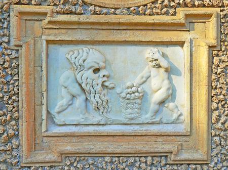 renaissance: bass-relief of renaissance period Stock Photo