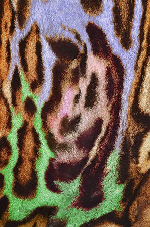 feline: feline fur with abstract figures