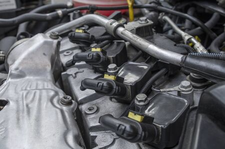 Car engine top 版權商用圖片 - 85826171