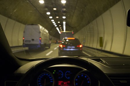 Traffic jam in the tunnel