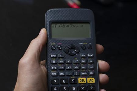 Using the scientific calculator 版權商用圖片