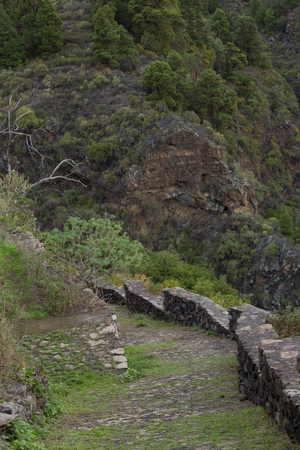 sc: This is a path for hiking near SC de La Palma (Canary Islands)