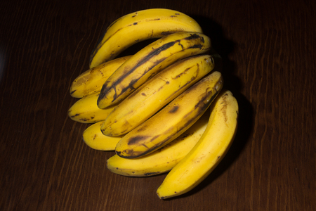 canary: Bunch of canary bananas Stock Photo