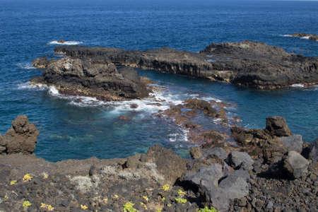 sea cliff: Sea Cliff in Los Cancajos (La Palma, Canary Islands)