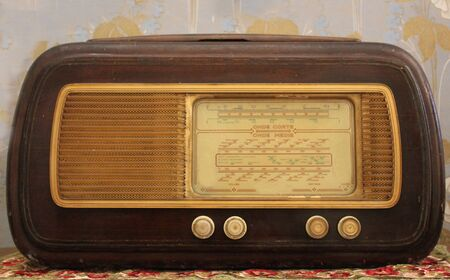 amplification: an antique wood radio