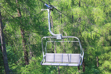 chairlift: a chairlift in mountain