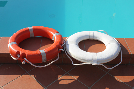 life buoy: life buoy in the pool