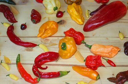 kilos: types of chili peppers on the table
