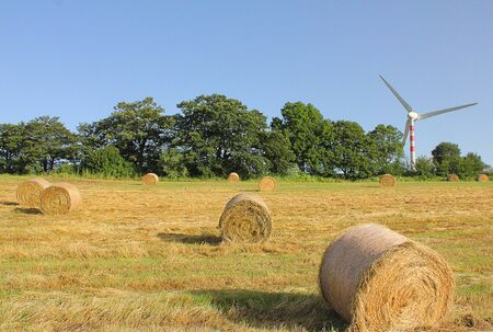 bales: some hay bales in the countryside