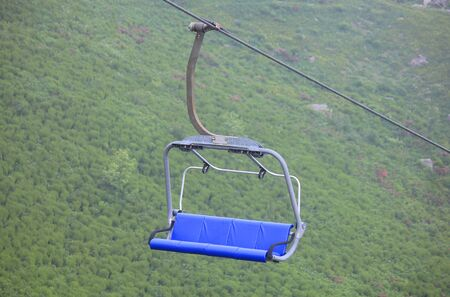 a chairlift in mountain in Summer Standard-Bild - 127530628