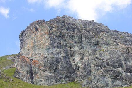 a panorama with big rocks in mountain Standard-Bild