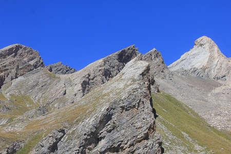 a panorama of peaks in mountain Standard-Bild
