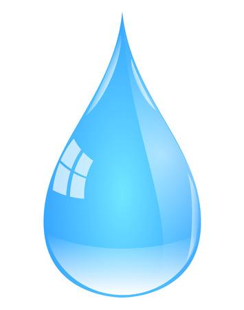 Drop of water. Illusztráció
