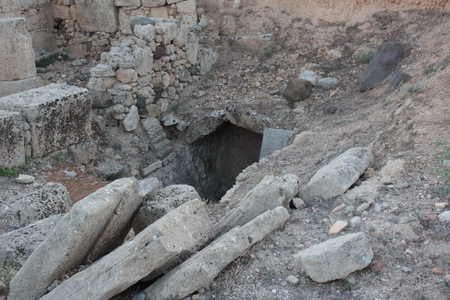 Ruins of tharros underground excavations ancient cave