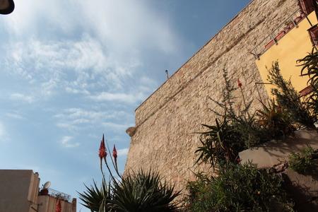 Bastion defense stone wall cinta castle fortress city of Cagliari
