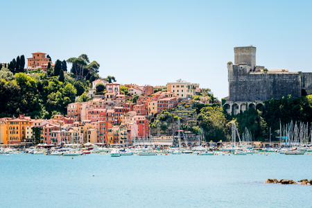 View of Lerici, Cinque Terre, Italy, in the so called Gulf of Poets Editorial
