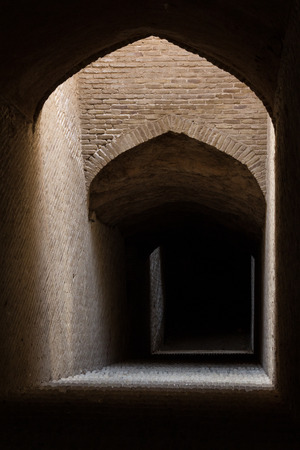 Islamic architectonic arches in the darkness useful as background