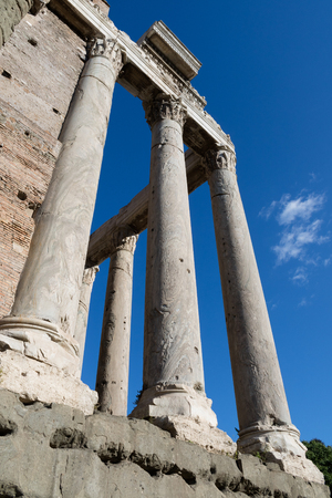 Ancient Roman columns, Roman Forum, Rome Italy