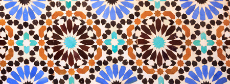 Islamic mosaic Moroccan style useful as background. Moroccan mosaics are well known in the world Imagens