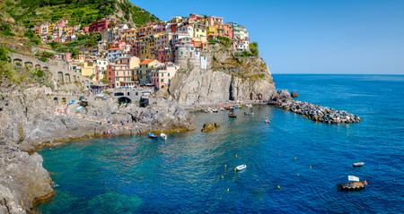 Manarola, Cinque Terre, Italy. Manarola is a pictoresque colorful village in Liguria district.