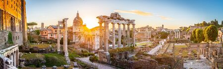 Roman Forum at sunrise, Rome, Italy.