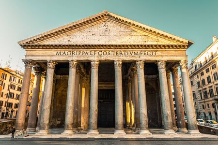 Pantheon, Rome, Italy, Europe. Rome ancient temple of all the gods. Rome Pantheon is one of the best known landmarks of Rome and Italy