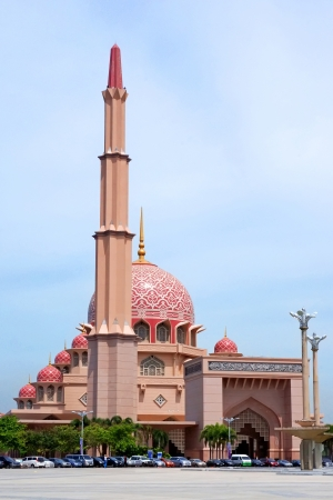 The Putra Mosque, or Masjid Putra in Malay language, is the principal mosque of Putrajaya, Malaysia  Construction of the mosque began in 1997 and was completed two years later