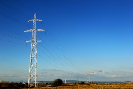 Background with electricity pylon