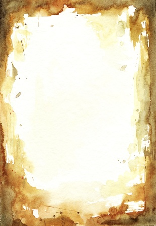 brown watercolor  background on paper