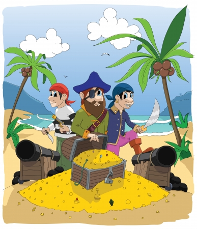 pirates on island