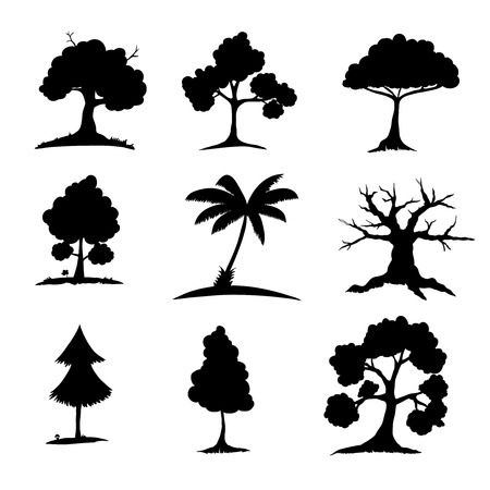 Silhouettes of imaginary trees