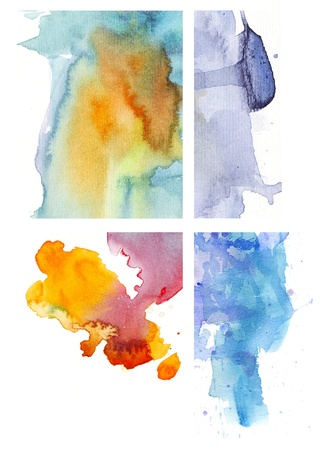 watercolor on paper Stock Photo