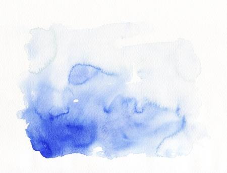 Blue abstract paint on textured paper