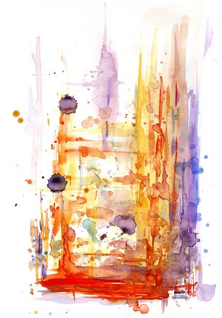 Abstract watercolor design Stock Photo