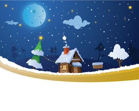 rural scene: Christmas house