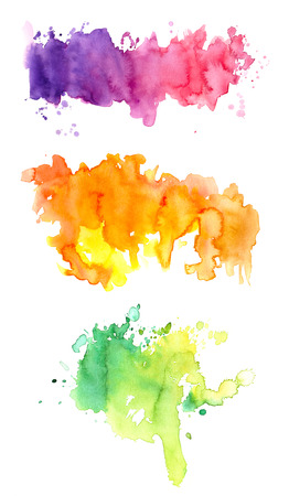 Three colorful watercolors