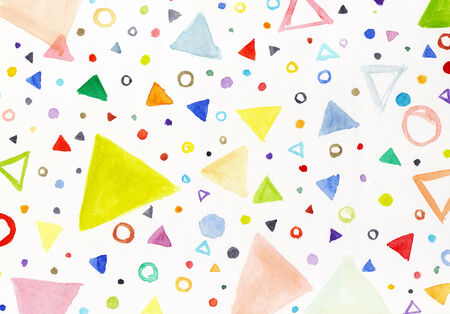 Colorful triangles photo