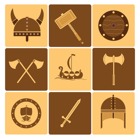 Viking icons Vector