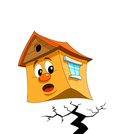 Scared house Vector