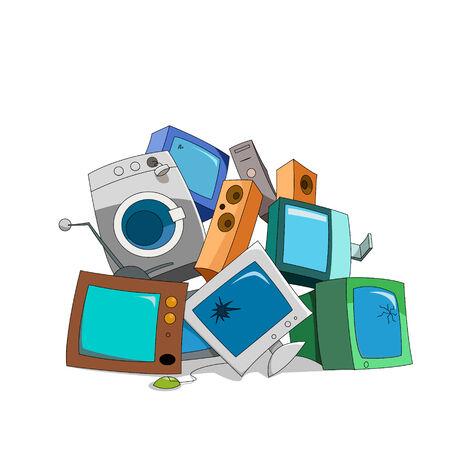 junkyard: Broken electronics
