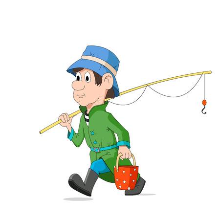 The fisherman Ilustracja