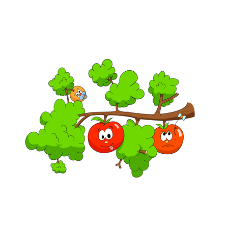 Branch with apples Vector