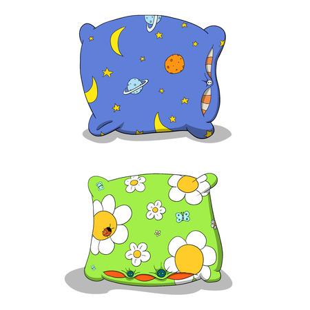 nightime: Colorful pillows Illustration