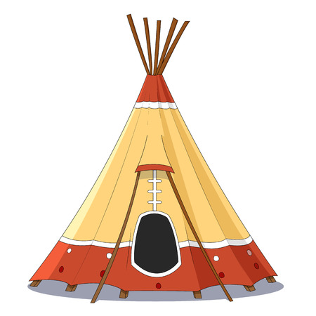 indian family:  Indian tent