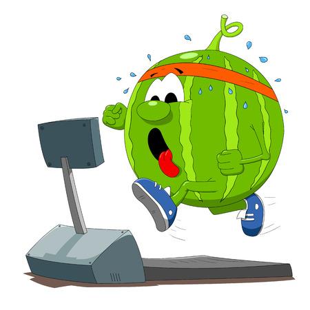 Running watermelon Vector