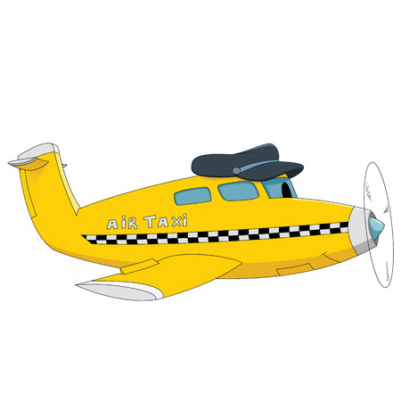 Air taxi Illustration