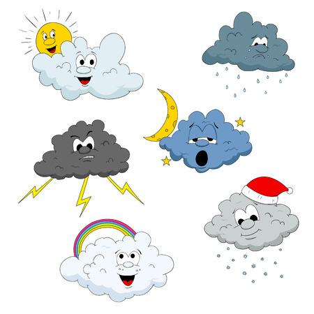 caras tristes: Personajes de la nube
