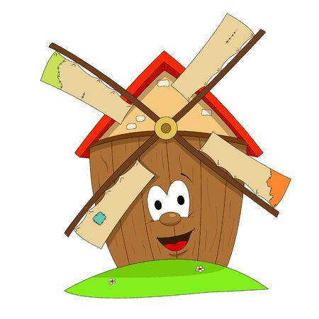 Funny windmill Vector