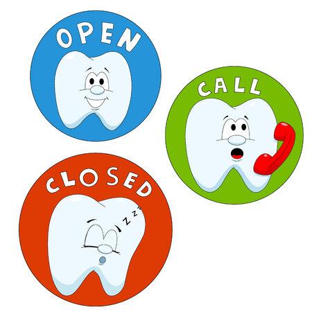 Calling teeth Illustration