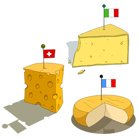 National cheese Illustration